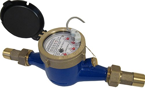 (PRM 1 Inch NPT Brass Multi-Jet Water Meter with Pulse Output, Not for Potable Water)