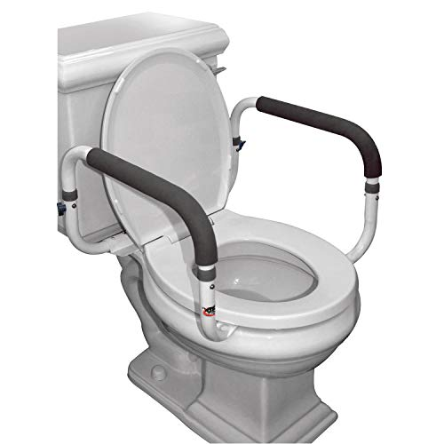 Carex Toilet Safety Frame - Toilet Safety Rails With Adjustable Width - Toilet Rails For Elderly, Handicap, Home Health Care Equipment After Surgery, Supports ()