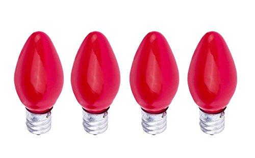 watt candelabra based c7 night light colored bulb red 4 pack. Black Bedroom Furniture Sets. Home Design Ideas