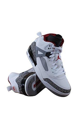 Nike Jordan Men's Spizike Basketball - White Red Cement Varsity