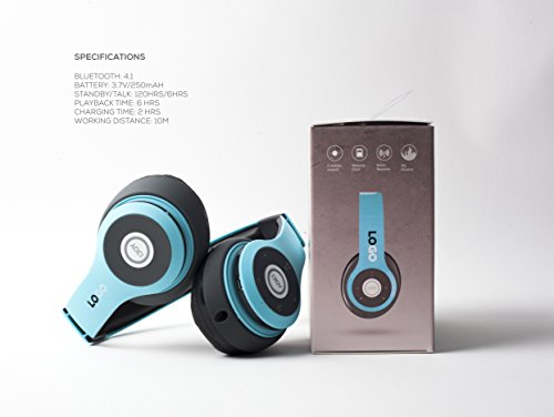 iJoy Matte Rechargeable Wireless Bluetooth Foldable Over Ear Headphones with Mic, Avatar by iJoy (Image #3)