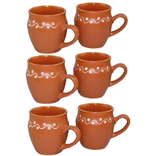 Odishabazaar Kulhar Kulhad Cups Traditional Indian Chai Tea Cup Set of 6 (5.4 oz) by Odishabazaar (Image #2)