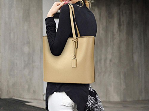 MEILI Bolso grande de las señoras de la moda del bolso grande del bolso negro del bolso de las mujeres , deep blue gold