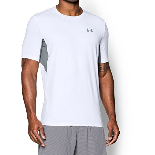 - Under Armour Men's CoolSwitch Run Short Sleeve, White (100)/Reflective, Medium