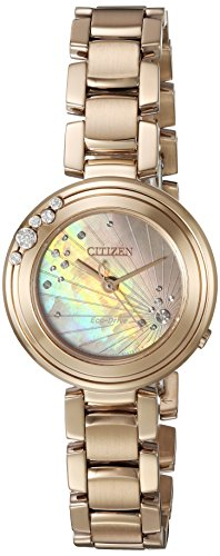 Citizen Women's 'Eco-Drive' Quartz Stainless Steel Casual Watch, Color:Rose Gold-Toned (Model: EM0463-51Y)