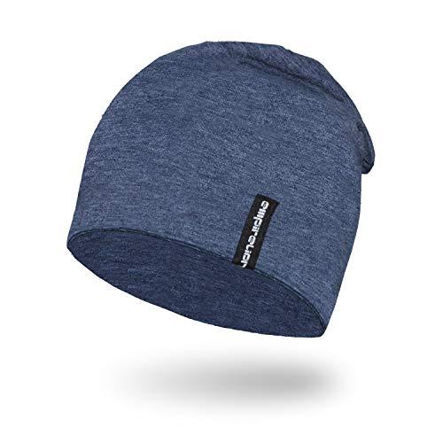 Empirelion Slouch Beanies Knit Hat Thin Running Lightweight Skull Cap for Men Women (Steel Blue Melange)