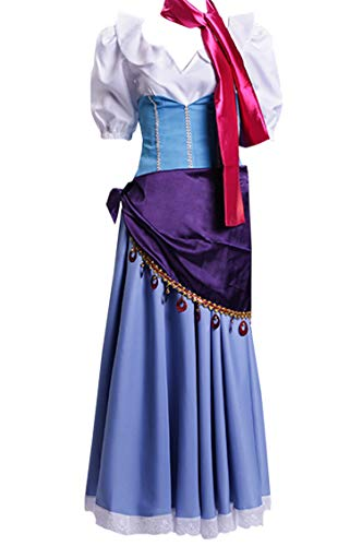 (ZYHCOS Adult/Child Halloween Costume Dancing Ball Gown Fancy Dress (Female-XS, Style)