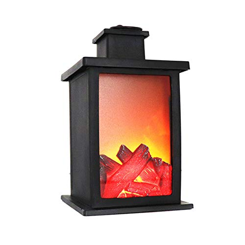 Cheap Nicknocks Fireplace Lamp Electric Fireplace LED Light 1 Pcs Fireplace LED Burning Effect Lantern Light Lamp Durable for Garden Lawn Bedroom Ornaments Home Decor Black Friday & Cyber Monday 2019