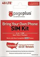 Page Plus SIM CARD 4G LTE 3 in 1 Sim Kit, Black (Nano-Micro-Standard)