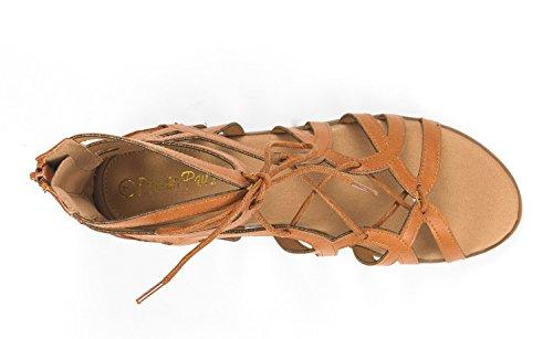 Gladiator PAIRS Sandals DREAM Womens Flat Cesar Tan Toe Open UqFFawfxp
