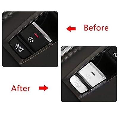 Xotic Tech Electronic Handbrake Button Cover Trim for Honda Accord 2020-2020, Silver Aluminum Car Handbrake Parking P Gear Brake Hold Frame Cap Decal: Automotive