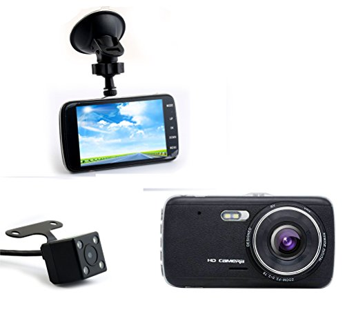 Accfly-Full-HD-19201080P-Car-Dash-Cam-40-inch-IPS-Screen-Dual-Lens-Vehicle-DVR-with-Rear-Camera-130-Degree-Wide-Angle-Night-VisionLoop-Recording-Motion-Detection-Parking-Monitor-G-sensor-LDWS-FCWS-WDR