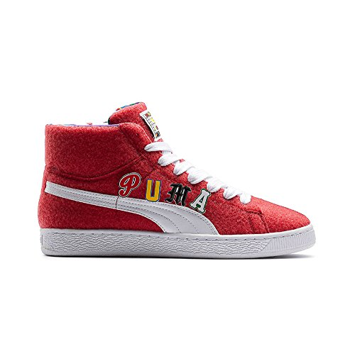PUMA Basket Mid Dee & Ricky Velcro Patch - ribbon red white (EUR 45) 360085-01