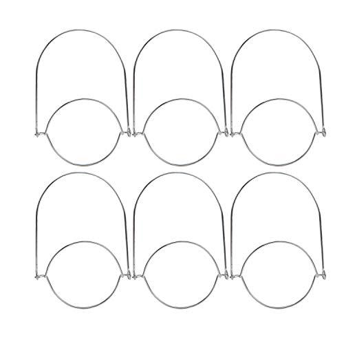 Sunlane 6 Pack Stainless Steel Wire Handles for Mason, Mason Jar Hanger, Canning Jars Hanger, Hanging Jars, Jar Hanging Hook for Regular Mouth Mason, Ball (6, Handle)