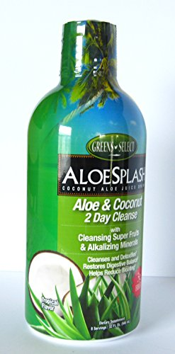Greens-select Aloesplash Aloe and Coconut 2 Day Cleanse with Cleansing Super Fruits and Alkalizing Minerals 32 Fl Oz ()
