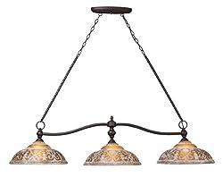 Elk 66195-3 Norwich 3-Light Billiard Light, 14-Inch, Oiled Bronze