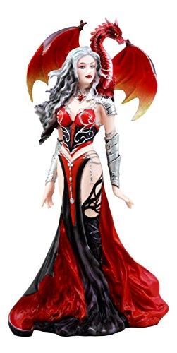 Ebros Nene Thomas Red Fire Dragon Witch Statue 12