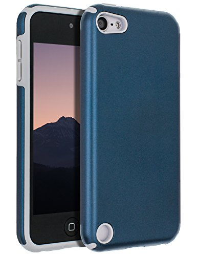 (iPod Touch Case 6th Generation,iPod Touch Case 5th Generation,SENON Slim-fit Shockproof Anti-Scratch Anti-Fingerprint Protective Case Cover for Apple iPod Touch,Navy)
