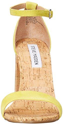 Steve Madden Womens Carson-C Dress Sandal Yellow Suede