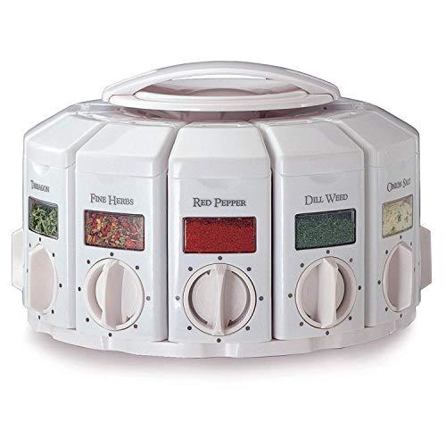 Kitchen Art 25000 Select-A-Spice Auto-Measure Carousel Professional Series, White (2 Units) ()
