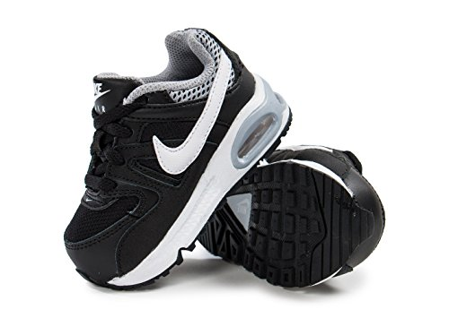 Nike Air Max Command (TD) Zapatillas, Bebé-niños Negro / Blanco / Gris (Black / White-Wolf Grey)