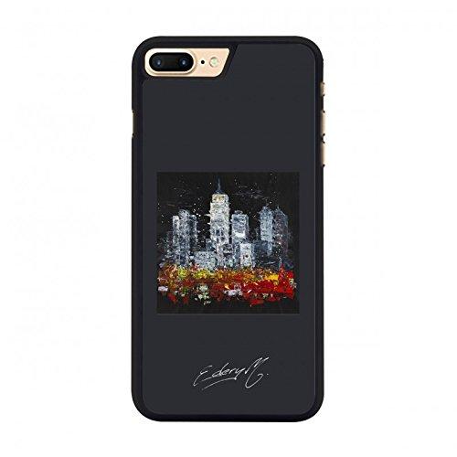PACK Coque Rigide Michael Edery + verre de protection écran (type 2.5D resistance 9H 0.33MM) compatible avec Apple iPhone 7 Plus New York City