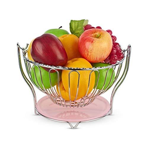 XL_FRUIT Fruit Bowls Kitchen Fruit Basket, Living Room Snacks Fruit Bowls Candy Bowl Dried Fruit Storage Basket Stainless Steel Round Swing Fruit Display Stand
