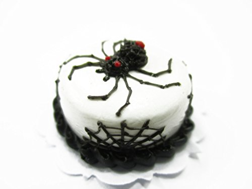 Dollhouse Miniatures Halloween Cake 2 cm Spider Seasonal