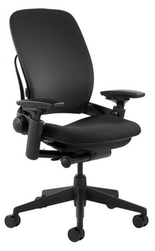 Steelcase Leap Chair V2 In Black Fabric by Exclusive Mod