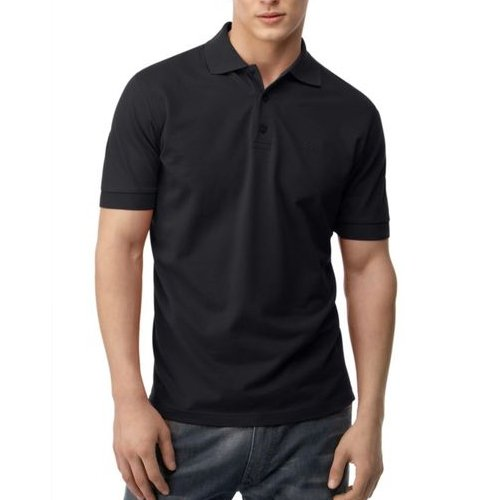Medium Black polo shirts with front placket and button ideal for ...