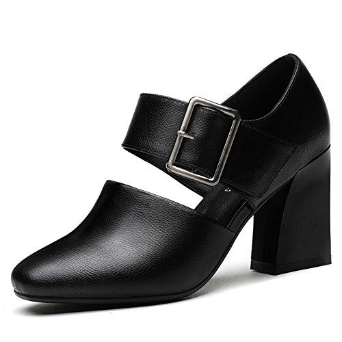 und Heel Schuhe Shoes A 9 Freizeitschuhe Grobe 24 High Fußlänge Deep 6Inch 3CM Hundert Lady PUMPS IwqTYY