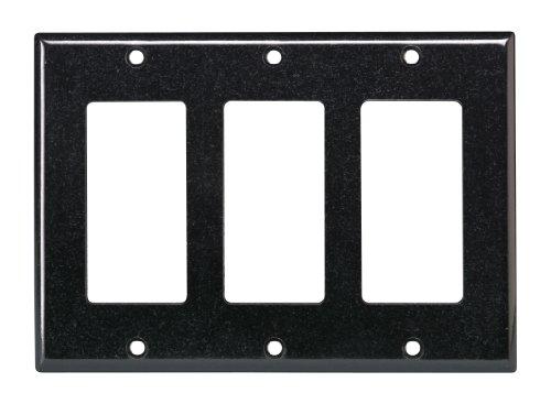 Leviton 004-80411-00E Triple Gang Wall Plate (Faceplate Triple)