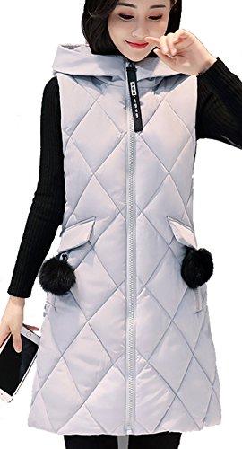 一定キリスト教修羅場(アイユウガ)I-YUUGAレディース ベスト ダウンコート 厚手 冬 ロング丈 袖なしの胴着 カジュアル 綿入れ 通勤 スリム フード付き 大きいサイズ 可愛い 防寒 防風 無地 アウター 軽量 ファッション
