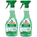 Frosch Natural Bio Spirit Glass and Multi-Surface Cleaner Spray, 16.9 fl oz (pack of 2)