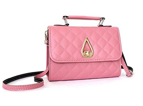 Bolsos Personalidad Mujer Pequeño Bolso Bolsa Diagonal De Fiesta Moda Para Pink Y Simple Marea Negro Lingge Mano Bao dvExwq4d