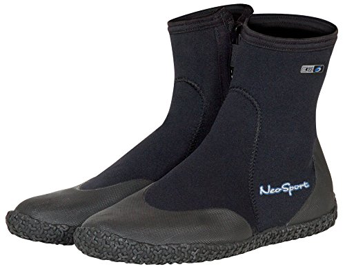 High Boot Zipper Top (Neo Sport Premium Neoprene Men & Women Wetsuit Boots, Shoes with puncture resistant sole 3mm, 5mm & 7mm for warm, moderate or cold water for watersports: beach, boat, lake, mud, kayak and more! Sizes 4 - 16)