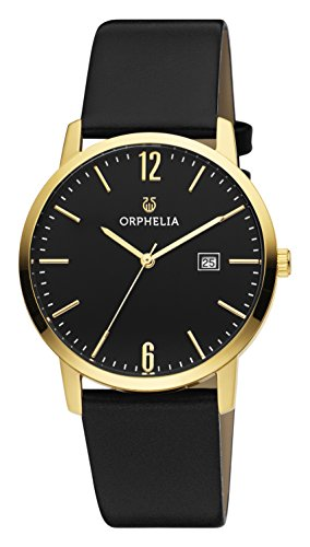 ORPHELIA Slimline Women's Black Leather watch-OR51703-1