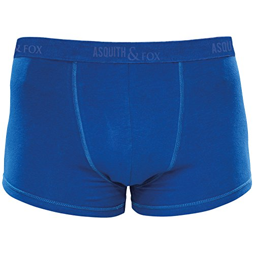Fox Boxer Shorts (Asquith Fox Mens Twin Pack Jockey Boxer Shorts Trunks - 7 Colours - Royal - S)
