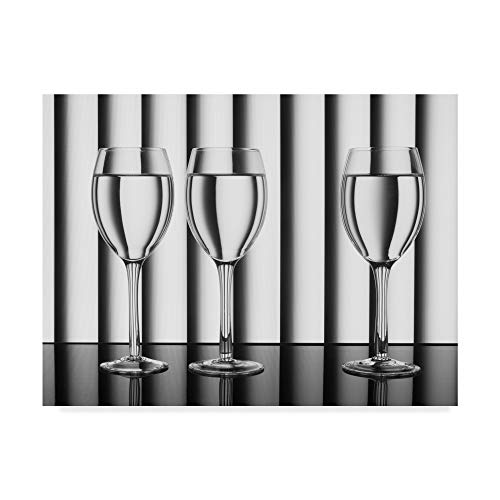 Trademark Fine Art Glasses Lines by Jacqueline Hammer, 18x24-Inch, 18x24 ()