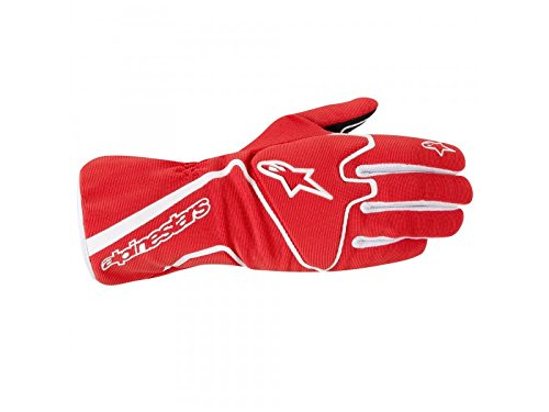 RACE GLOVES - RED/WHITE - SIZE M ()