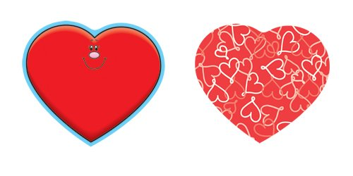 Carson Dellosa Hearts Cut-Outs - Cut Heart Outs Shape