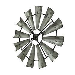 Special T Imports 16 Rustic Windmill Clock