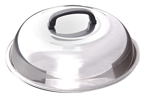 Blackstone Signature Griddle Accessories - 12 Inch Round Basting Cover - Stainless Steel - Cheese Melting Dome and Steaming Cover - Best for Use in Flat Top Griddle Grill Cooking Indoor or Outdoor ()