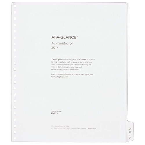 AT-A-GLANCE 2017 Multi-Year Monthly Planner Refill, 12 Months, 9 x 11 Inch Page Size, White (7092377)