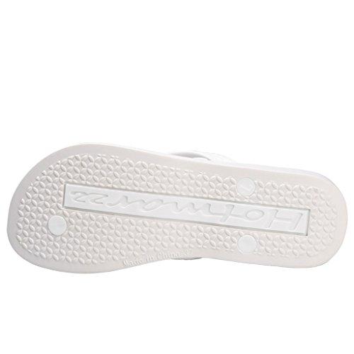 Sandales Femme D'Ete Tongs Compensé Plateforme Hotmarzz Plage Flops Blanc Talon Haut Flip 6CBqF