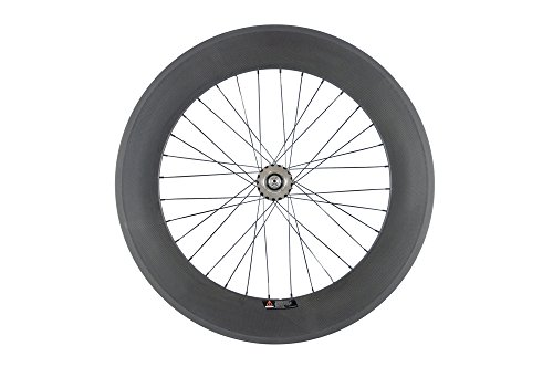Sunrise Bike Carbon Track 88mm Matte Finish Clincher Rear Wheel for Fixed Gear Bike by SunRise