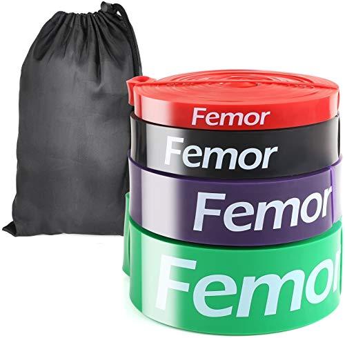 🥇 Femor 4pcs Bandas Elásticas de Fitness
