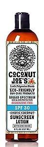 Zinc Oxide Sunscreen from Coconut Joe's | Natural & Organic Sunscreen Lotion, Mineral Sunscreen, SPF 30, Natural Sunscreen, 8 ounce bottle
