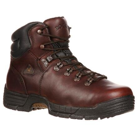 Rocky Men's Mobilite Six Inch Steel Toe Work Boot,Brown,13 W US
