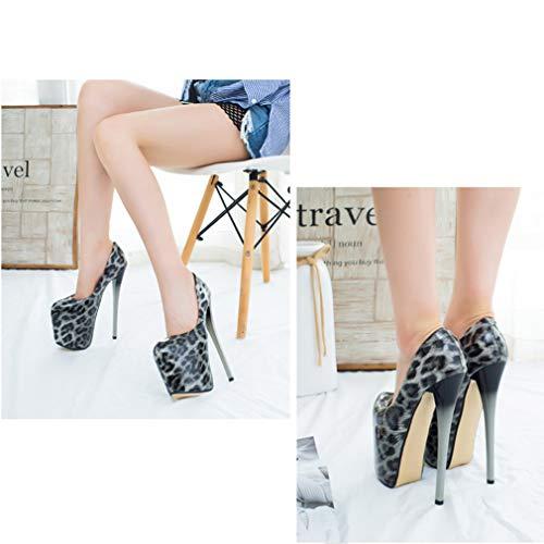 Señoras Primavera Zapatos Talón Plataforma Alto Tacón Y Cuero Yan De Segundo Sintético Para Mujer Otoño Estilete PF8dqA